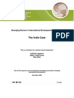 Case of IndiaEmerging Donors in International Development Assistance: