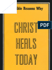 30 Bible Reasons Why Christ Heals Today - Gordon Lindsay