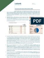 Resumen de Prensa Del Martes 30 de Abril de 2013