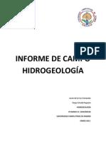 Memoria de Campo de Hidrogeologia en PDF