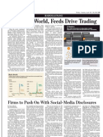 In a Wired World, Feeds Drive Trading