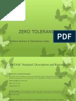 Current Events-Zero Tolerance