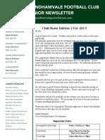 2013 Newsletters Week 2