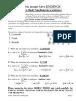 Arabic Nouns Have Endings