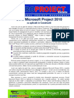 Europroiect Estate - Curs Microsoft Project 2010 Prezentare Site