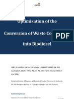 Optimization of Conversion of Waste Cooking Oil Into Biodiesel