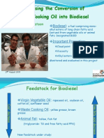 optimising the conversion of waste cooking oil into biodiesel