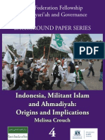 Indonesia, Militant Islam and Ahmadiyah