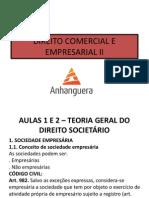 Direito Comercial e Empresarial II