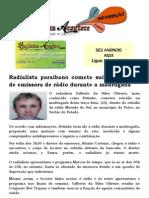Radialista paraibano comete suicídio dentro de emissora de rádio durante a madrugada