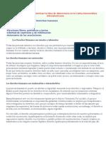 Elementos que caracterizan la idea de democracia en la Carta Democrática Interamericana