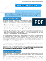 5 - Statistics and Presentation