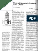 NAVASCUÉS, Pedro. 'El Ensayo histórico de la Arquitectura' de José Caveda