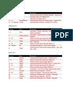 Calendar Sportiv 2013