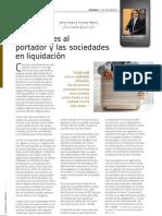 Acciones al portador y las sociedades en liquidación