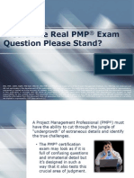 Would the Real PMP Exam Question Please Stand