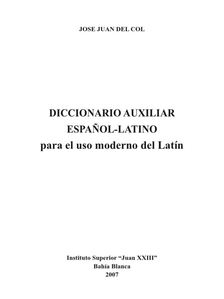 Diccionario Español-Latín. Del Col | latín | Lingüística