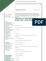 Program to Implement 2-Way Merge Sort Using Pointers - Itstudentjunction