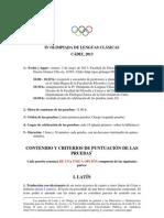 2 Circular IV Olimpiada de Lenguas Clasicas Cadiz-2013