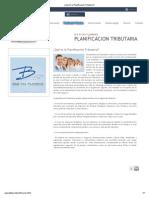 ¿Qué es la Planificación Tributaria_