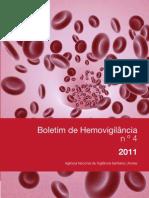 Boletim de Hemovigilancia n 4 2011