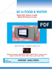 Award winning analyzer for the analysis of arsenic in food and water