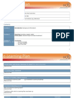 E-learning Plan Template