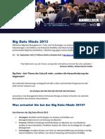 Big Data Minds 2013 Vorankündigung