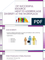 Elements of Successful Human Resource Management to Address Age Diversity