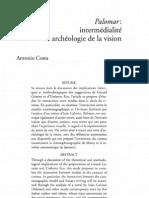 Palomar- intermédialité et archéologie de la vision - Antonio Costa