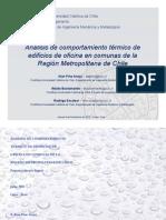 Análisis de comportamiento térmico de edificios de oficina en comunas de la Región Metropolitana de Chile