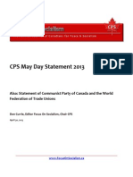 CPS May Day Statement 2013