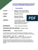 Convocatoria Concurso de Salto # 6 - 2013