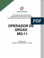 Operador de Gruas Mg 11