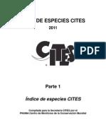 Indice de Especies CITES