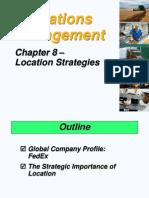 8-10. Location Strategies