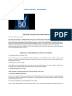 50 Most Common Interview Questions and Answers