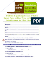 Bulletin de Participation Au Salon 2013