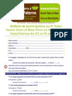 Bulletin de Participation Au Salon 2013