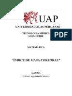 ÍNDICE DE MASA CORPORAL-para metematicas