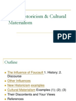 New Historicism Cultural Materialism