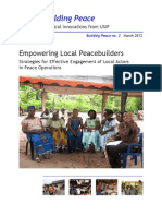 Empowering Local Peacebuilders