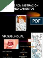 VÍA DE ADMINISTRACIÓN DE MEDICAMENTOS