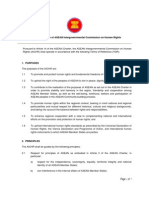 Terms of Referfernce of ASEAN Intergovernmental Commission on Human Rights