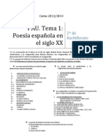 Poesía Española del XX