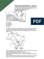 Lista de Exercc3adcios de Cartografia Escala Cc3b3pia