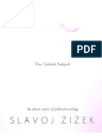 Slavoj Zizek the Ticklish Subject