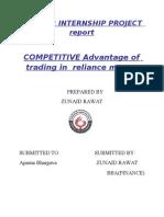 Competitive Advantage of Reliance Money
