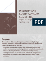 diversity and equity advisory committee