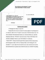 Vehicle IP, LLC v. AT&T Mobility LLC, Civ. No. 09-1007-LPS (D. Del. Apr. 10, 2013).